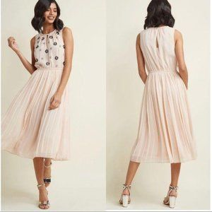 ModCloth Embellished Chiffon Midi Dress